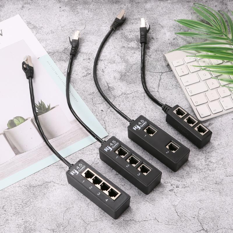RJ45 gatos Ethernet adaptador de Cable Divisor de Cable 1 macho a...