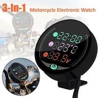 waterproof 1224v night vision motorcycle voltmeter volt gauge display motorbike led clock watch water temperature meter