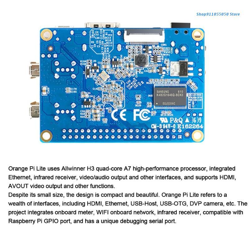 C5AB مفتوحة المصدر لوحة كمبيوتر واحدة البرتقال Pi لايت 1GB H3 SoC 1GB DDR3 SDRAM يدير أوبونتو ديبيان Android4.4 صورة
