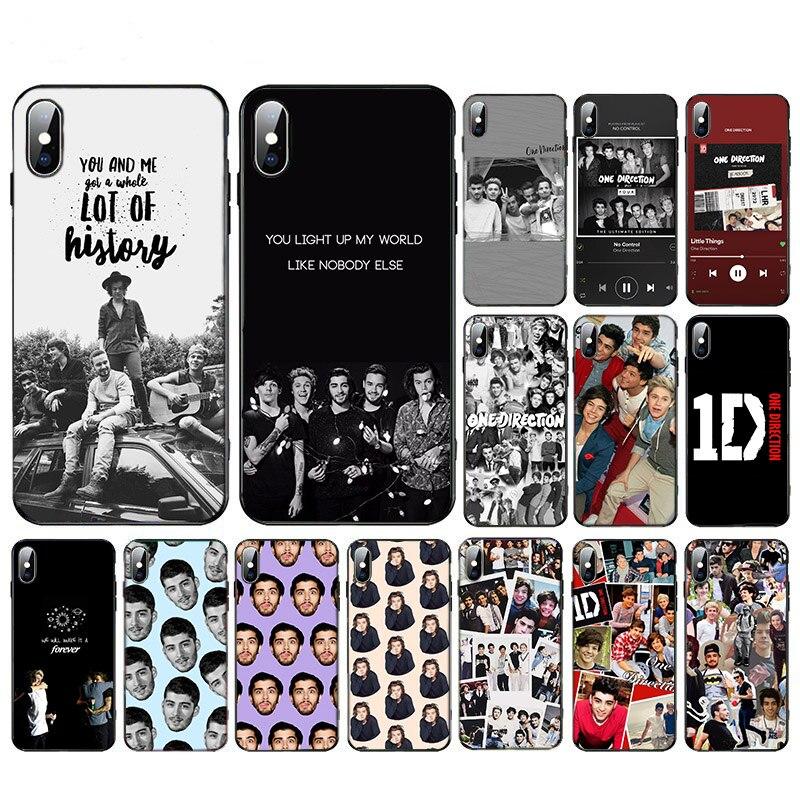 Funda blanda 1D 11 pro max TPU de One Direction para iphone SE2020 XS XR X 7 8 6s 6 plus 5 5S 10