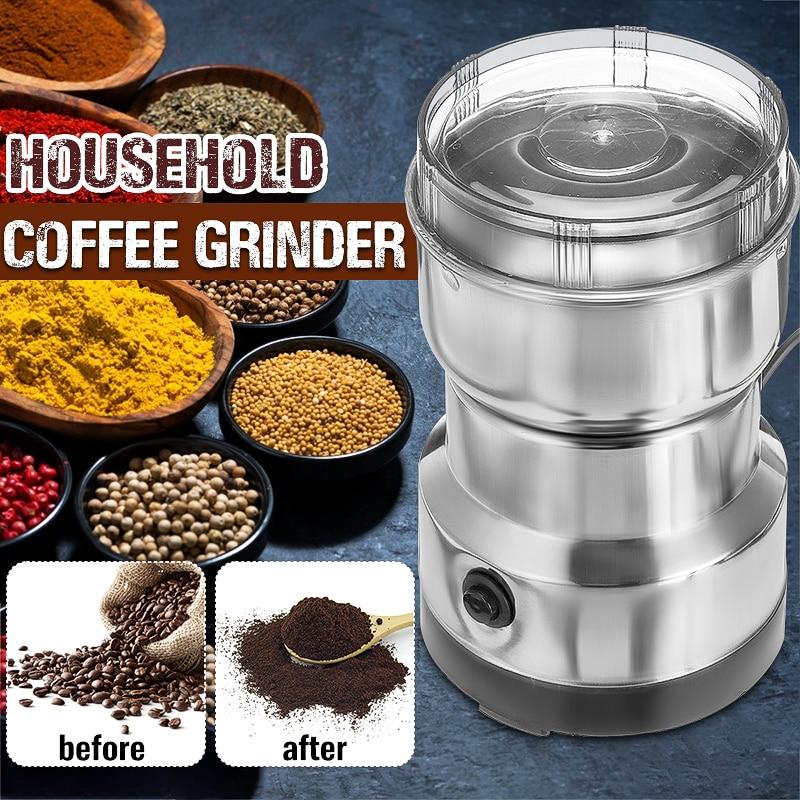 200W 220V Electric Coffee Grinder Grinding Milling Bean Nut Spice Matte Blenders AU