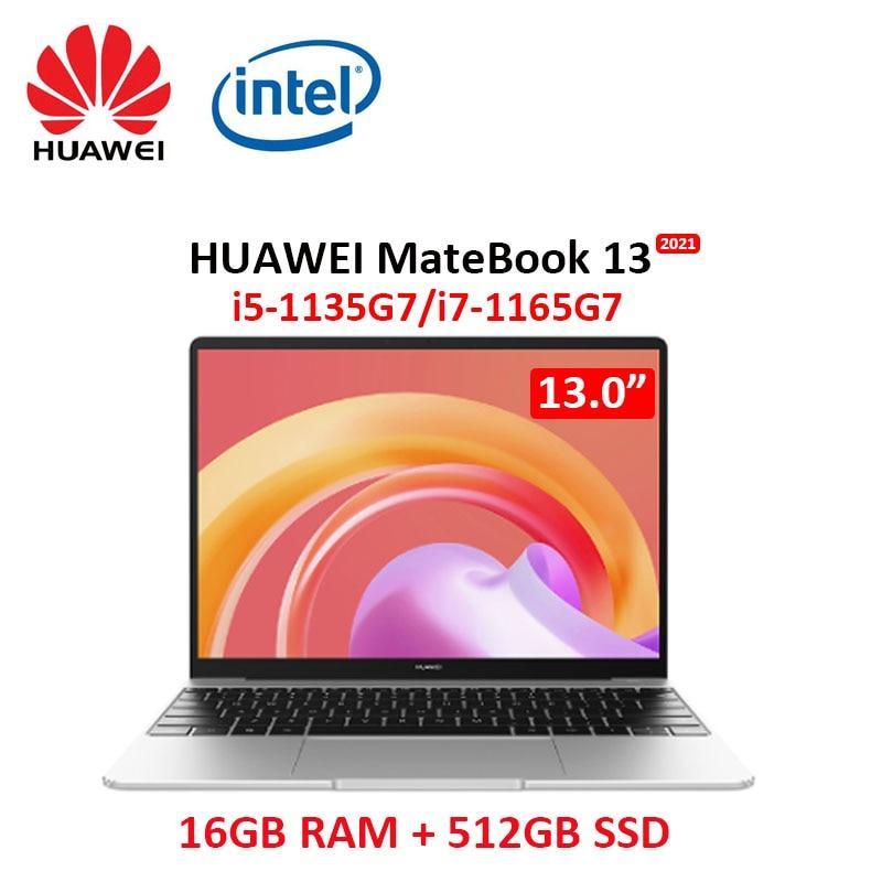 Huawei MateBook 13 2021 laptop i7-1165G7 16GB RAM 512GB SSD 13-inch full-screen notebook computer touch screen Ultrabook