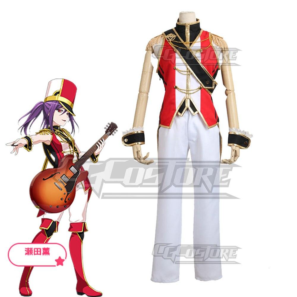 Cosplay fantasia anime bang sonho! Seta kaoru olá happyworld! Vestidos de natal halloween frete grátis cg230