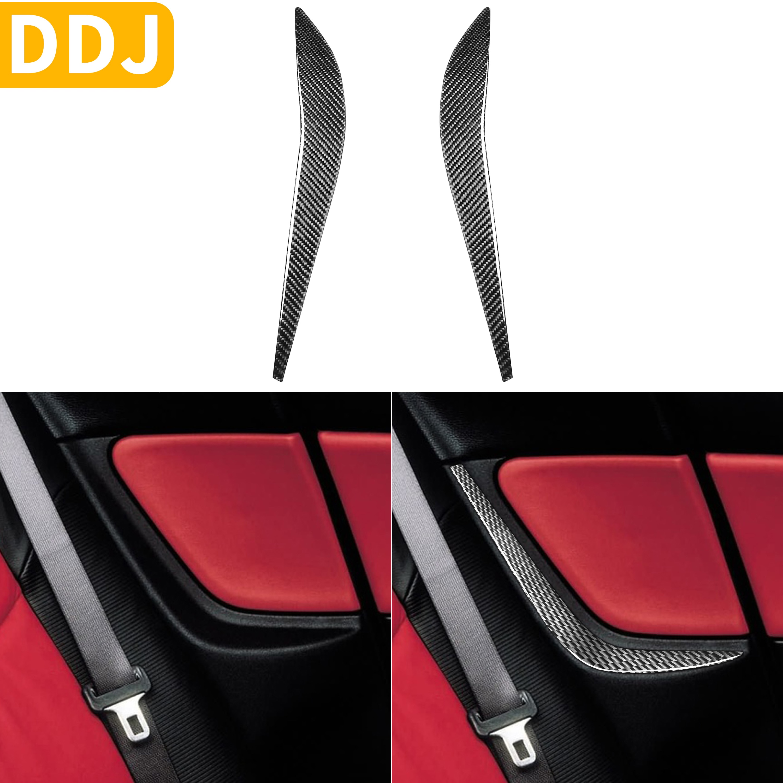 Para Mazda RX-8 RX8 SE3P JM1FE 2004-2008 accesorios para asiento trasero lateral Panel embellecedor de fibra de carbono modificado pegatina Interior