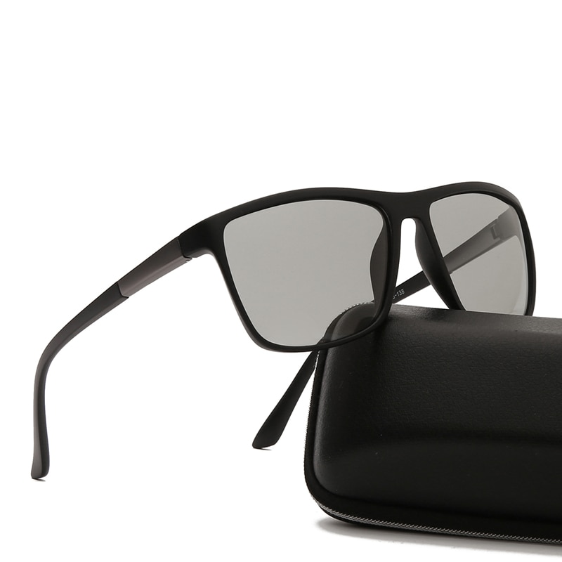 Солнцезащитные очки-хамелеоны квадратные фотохромные UV400 для мужчин и женщин, поляризационные брендовые дизайнерские солнечные очки для в...