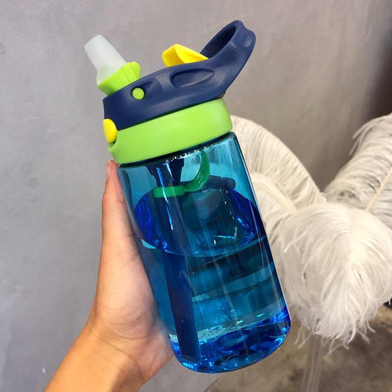 480ML Baby Kids Children Portable Feeding Drinking Water Bottle Cup With Straw Children Day Gift Bir