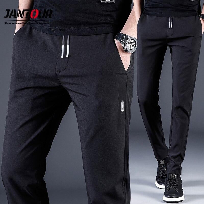 Jantour-Pantalones informales para hombre... calzas ajustadas de trabajo with cintura... Light... geniales...