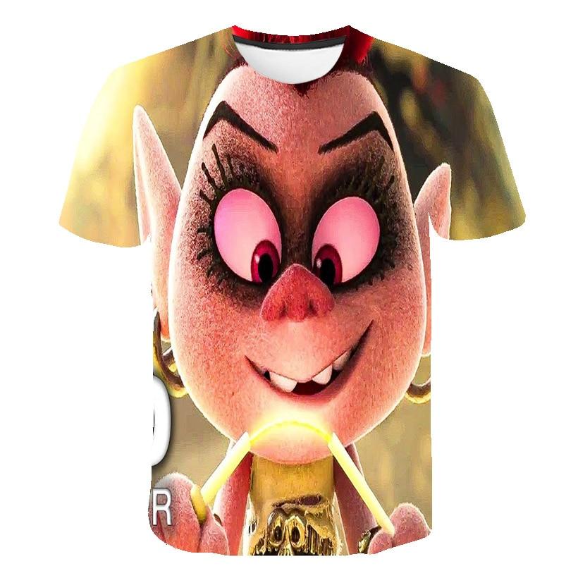 Camiseta de niños Trolls 2 camiseta película Trolls World Tour Sonic camiseta divertida camisetas 3D niños ropa peluda elf Girls tops