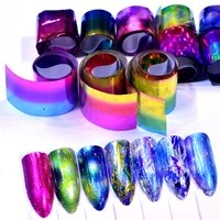 ywk 10 colorspack starry sky nail foils sticker 420cm colorful manicure nail art transfer sticker nail art decoration