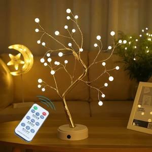 Бонсай дерево светильник 36 шт. светодиодный светильник s елка украшения коричневый ветви подарок для дня рождения, рождественской вечеринки или свадьбы