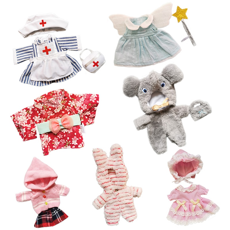 Doll Clothes Fit 25cm Baby Doll Toy 1/6 BJD Doll New Born Doll Accessories Lovely Outfit Suit Girls