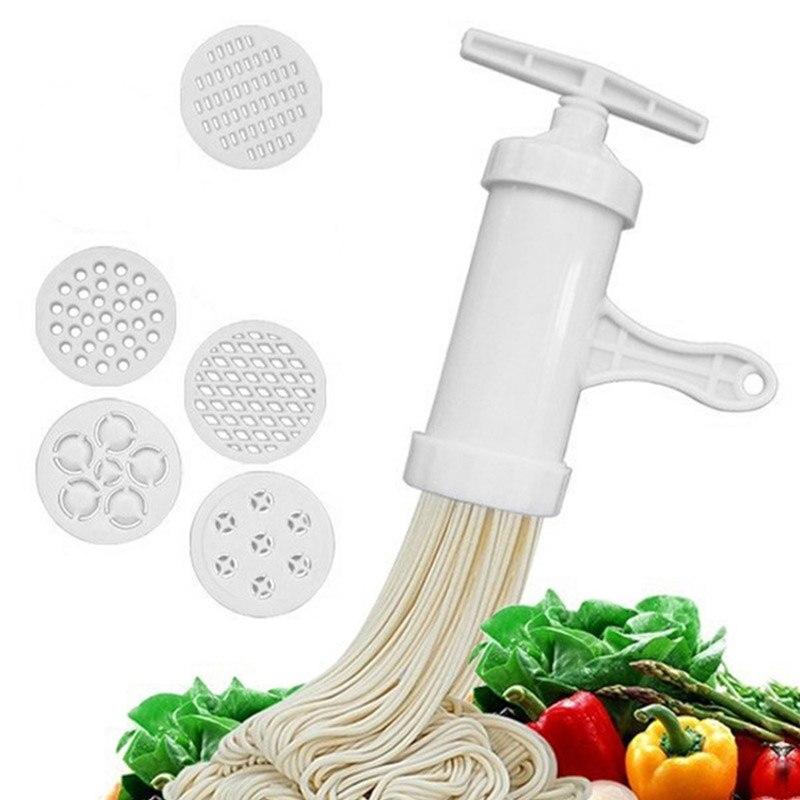 Fabricant de nouilles ménage manuel Machine de pressage outil de cuisine en plastique à la main Machine à nouilles accessoires de cuisine