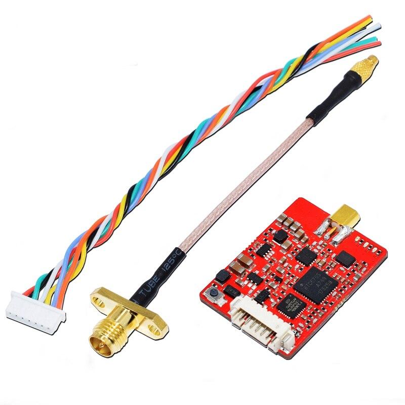 EWRF e708TM3 5,8G 40CH inalámbrico transmisor AV Pro 25/200/500/800mW PitMmode conmutable apoyo TBS Smartaudio para RC FPV drone