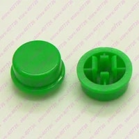 100pcs 1000pcs round plastic colorful cap dia 13mm suit for 12x12x12 3mm square head tact switch tact switch power push button