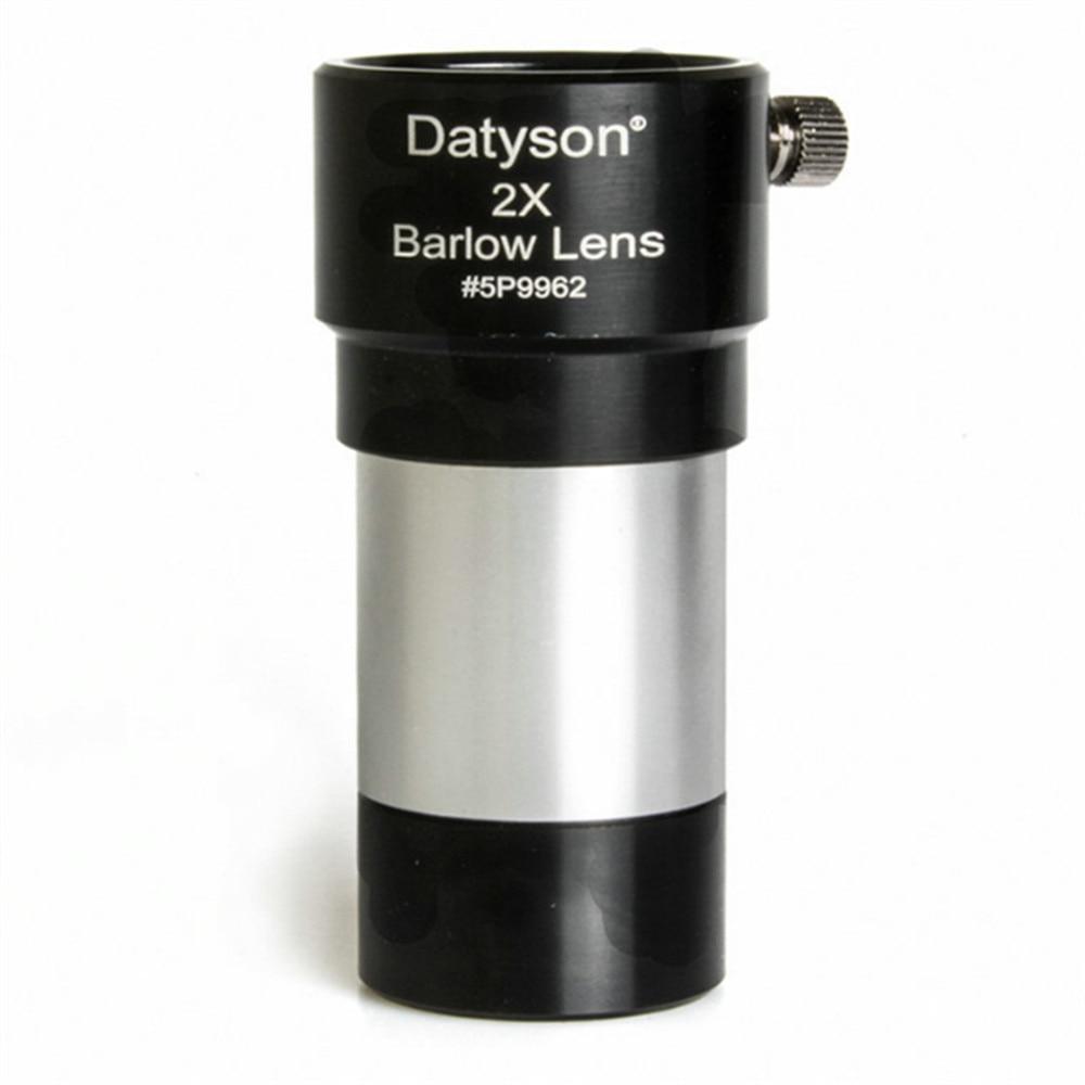 Datyson acromático vidrio óptico puro aleación de aluminio 1,25 pulgadas telescopio 2X extensores Full Optical HD Green Film 5P9962