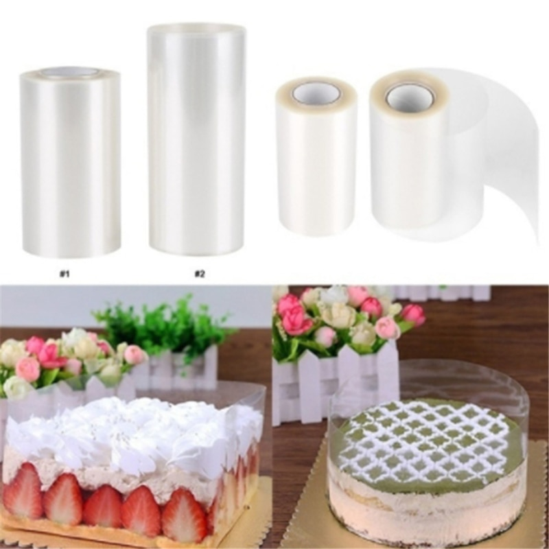 1 Roll Cake Surround Film Transparent Collar Kitchen Acetate Chocolate Candy For Baking Durable 8cm/10m