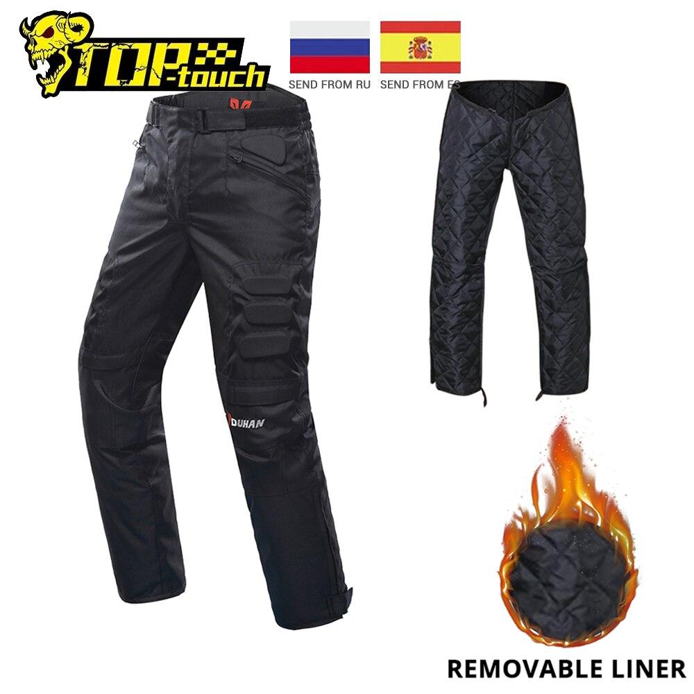 DUHAN Motorcycle Pants Men Windproof Protective Gear Motocross Pants Motorcycle Riding Trousers Pantalon Moto Pants With Knee