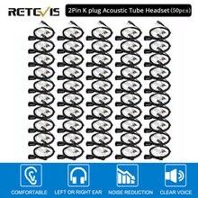 50 шт. Retevis PTT Mic Air портативная рация с наушниками гарнитура для Kenwood Baofeng UV 5R Retevis H777 RT22 RT80 C9003A