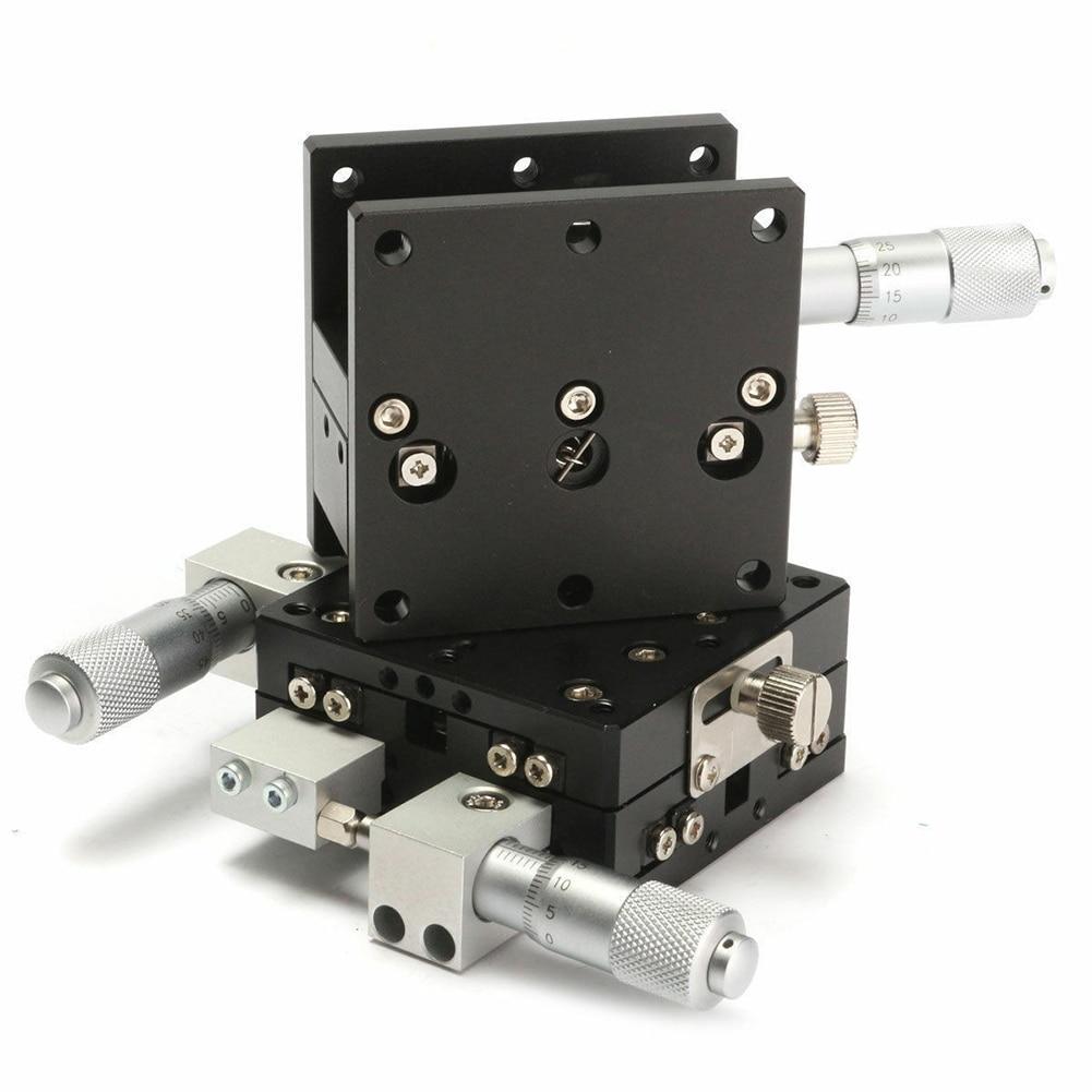 Plataforma de aparamento axial linear estágio rolamento tuning mesa deslizante levantamento 60x60mm dc120