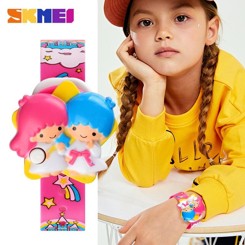 SKMEI Creative Watch Fun Children Watch Flower Angel Baby Cartoon Kids Digital Watches Waterproof Small Boys Girls montre enfant