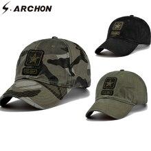 S.ARCHON-casquettes de Baseball tactiques   Casquettes de Camouflage pour hommes, broderie 100% coton Paintball, chapeaux militaires pour femmes, Camouflage Airsoft, casquette de Combat