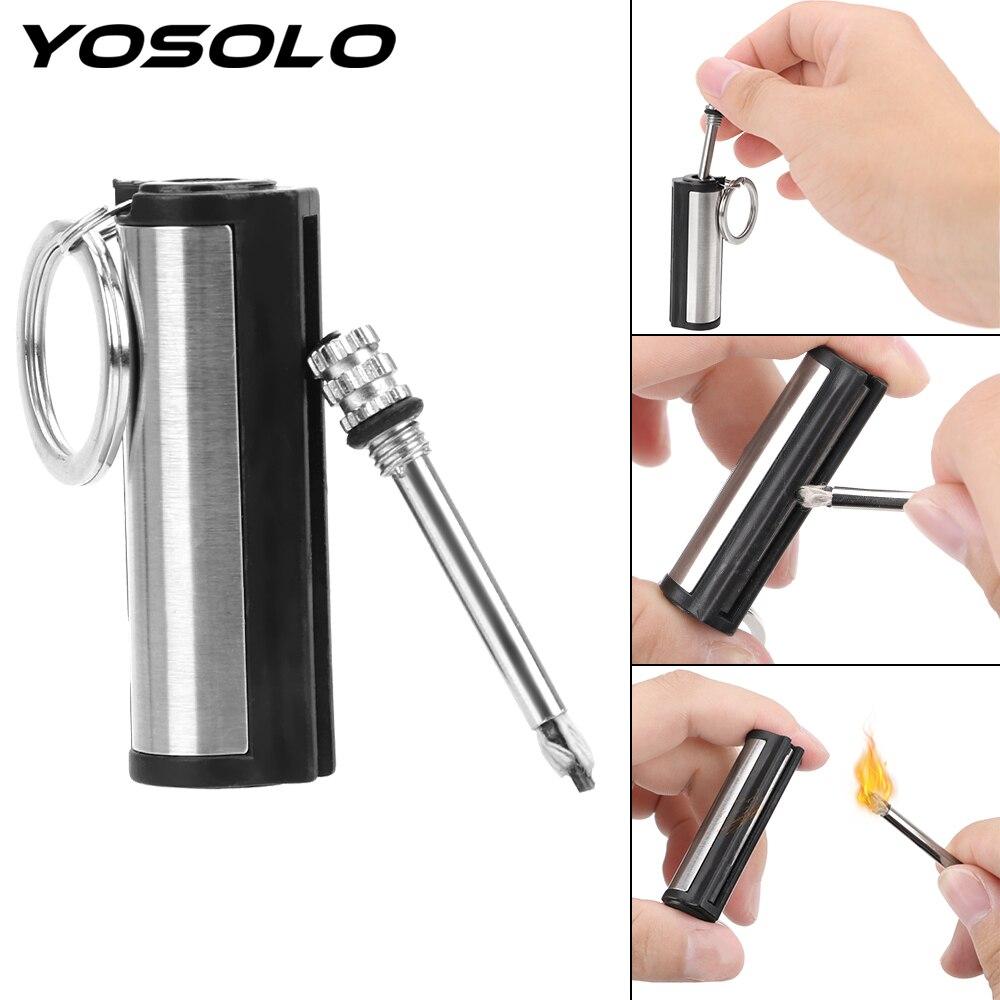 LLavero de acero inoxidable YOSOLO, accesorios de Interior de coche, encendedor cilíndrico
