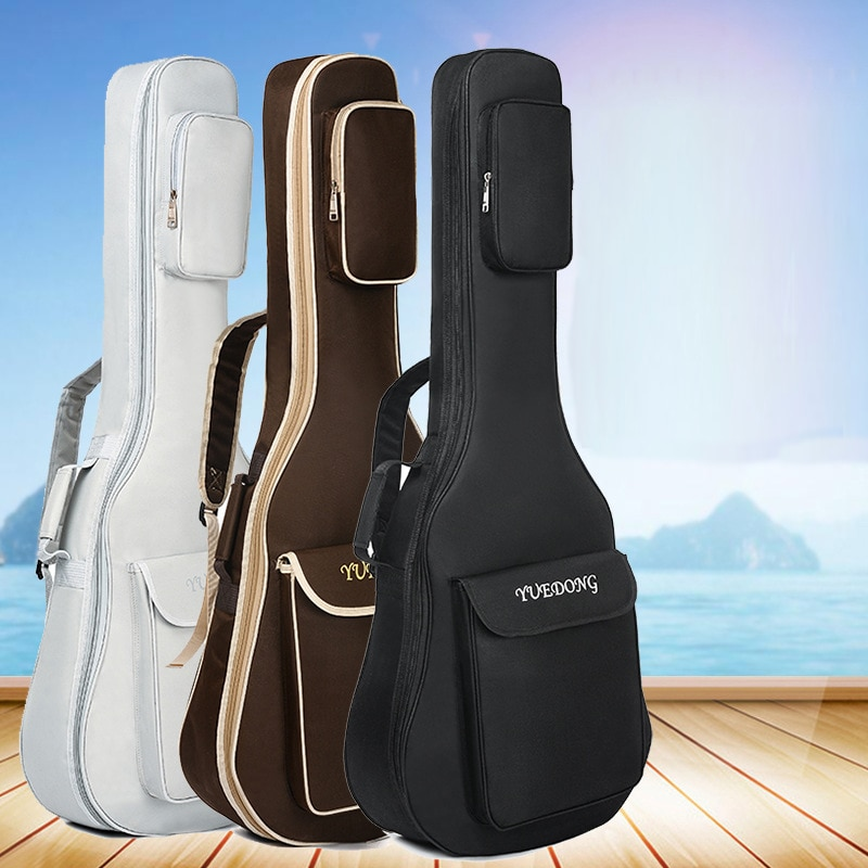 Funda de guitarra de tela Oxford bolsa de café doble correas almohadilla de algodón grueso de 7mm mochila impermeable