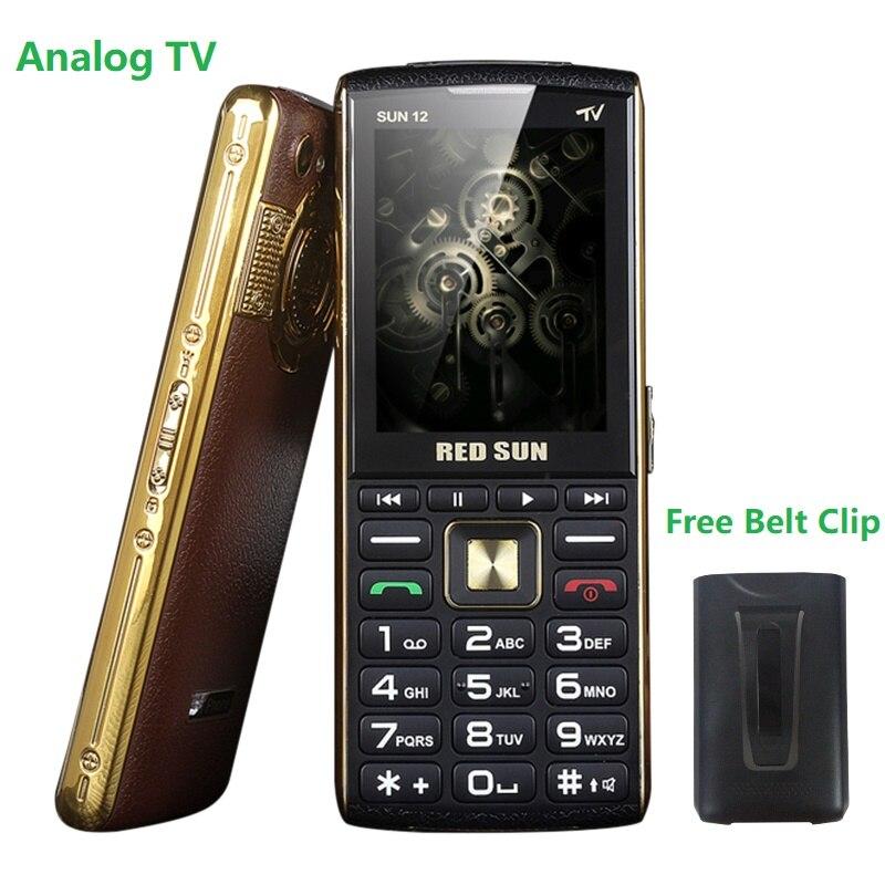 """Büyük ekran 2.8 """"Analog TV çubuğu ince kıdemli telefon 3 Sim sihirli ses SOS hızlı arama çift el feneri Powerbank ücretsiz kemer kayma"""
