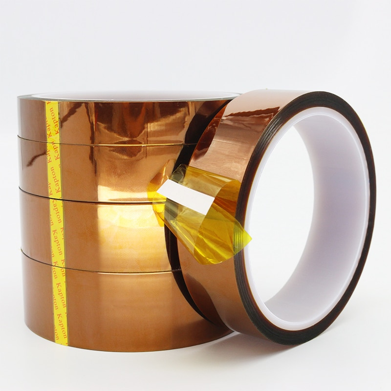 1pcs 33m heat resistant polyimide tape high temperature adhesive insulation tape for bga electronic repair pcb smt Heat Resistant Polyimide Reflective Tape High Temperature Adhesive Insulation Protective Tape 25M