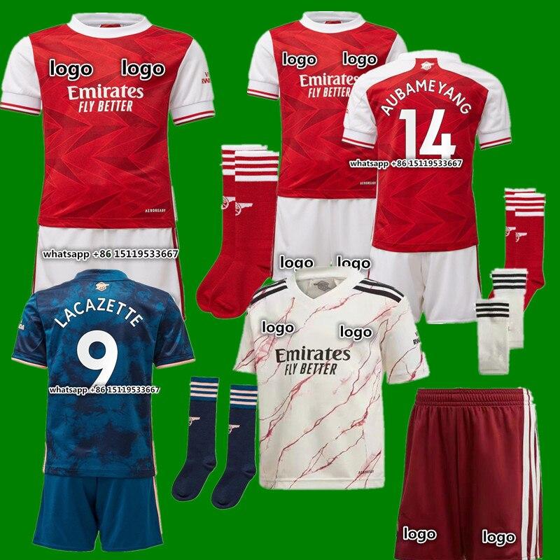 men adults kit Odegaard new adult 20-21 ArsenalES shirt BELLERIN SAKS XHAKA AUBAMEYANG OZIL LACAZETTE GUENDOUZI PEPE 20 21 shirt