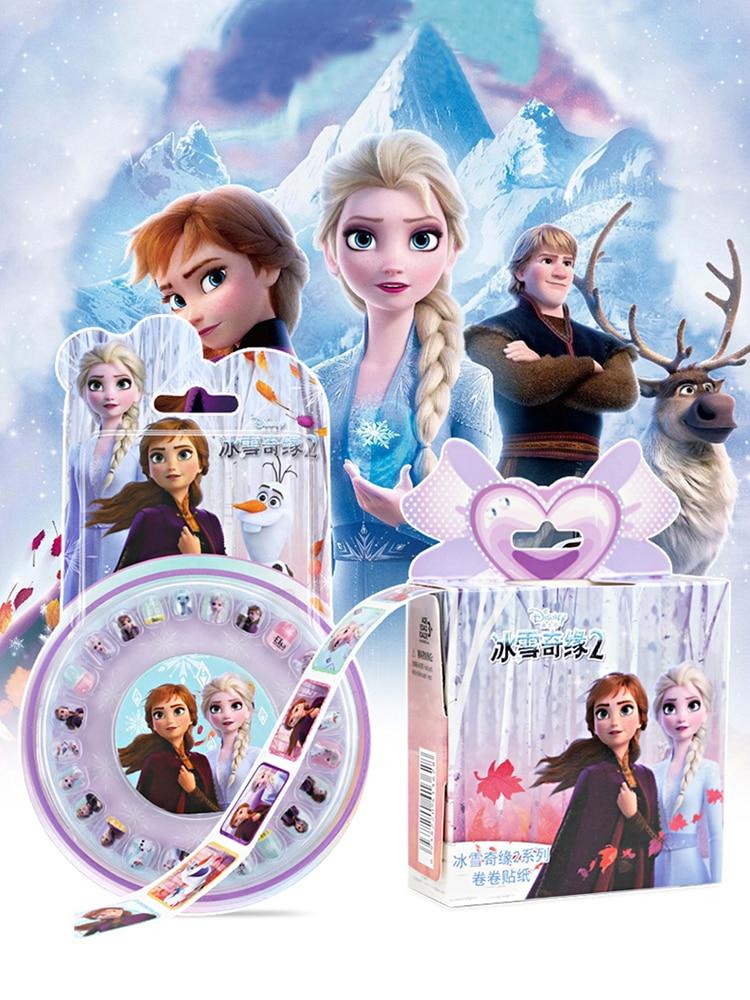 Фото - Disney Frozen 2 Elsa Anna Princess Removable Nail Stickers Scrapbooking For Kids Diary Notebook Decoration Makeup Toy Set подарочный набор disney frozen ii anna house set