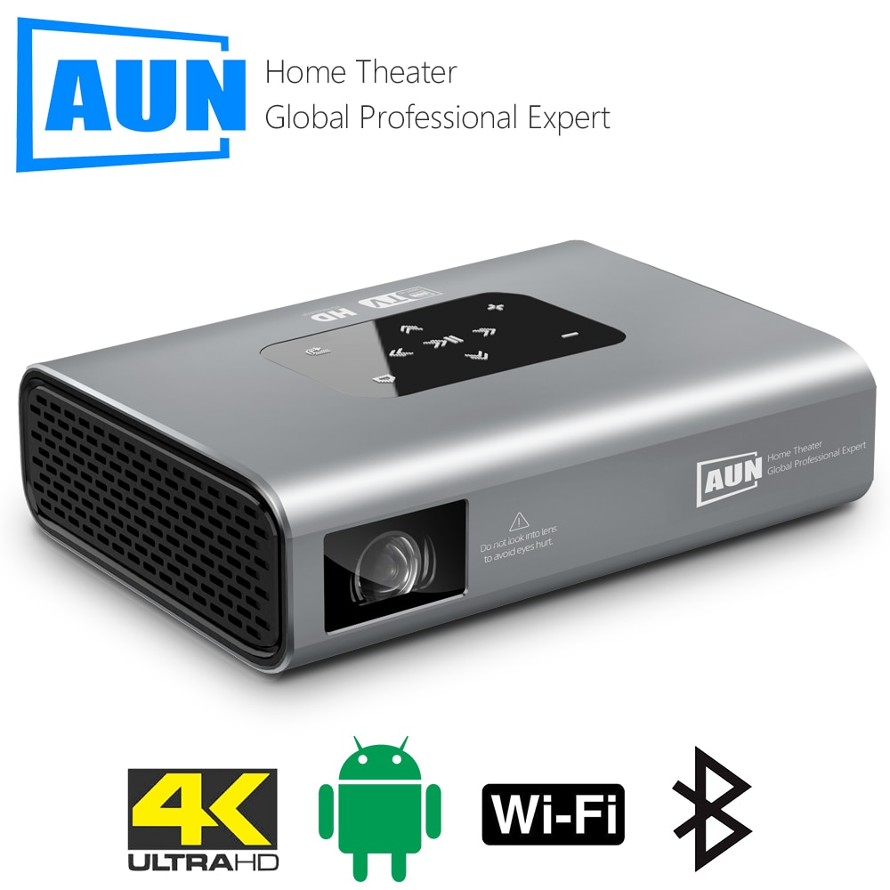 AUN Projector X5 4K Android WIFI 3D 10500mAH Battery 300inch 1080P DLP MINI Portable Vedio Projector for Home Smart Laser Beamer