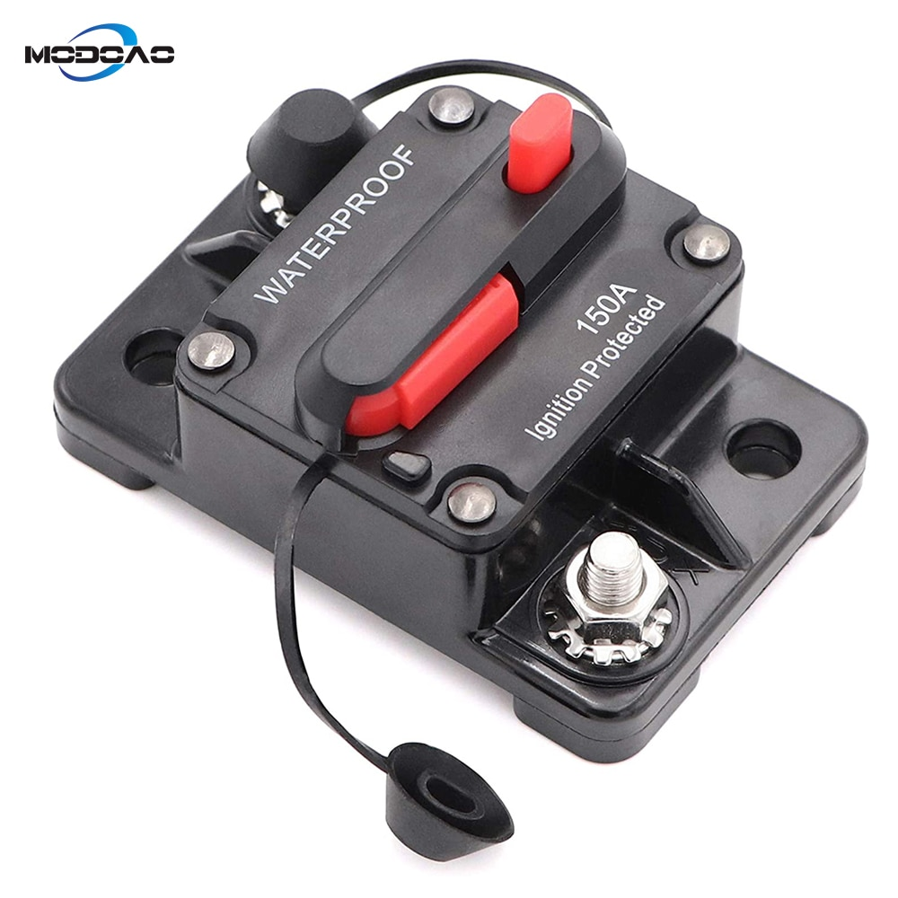 Car Marine Circuit Breaker with Manual Reset Surface-Mount for Audio Marine Boat Truck Trolling Motor Speaker Resettable Fuse