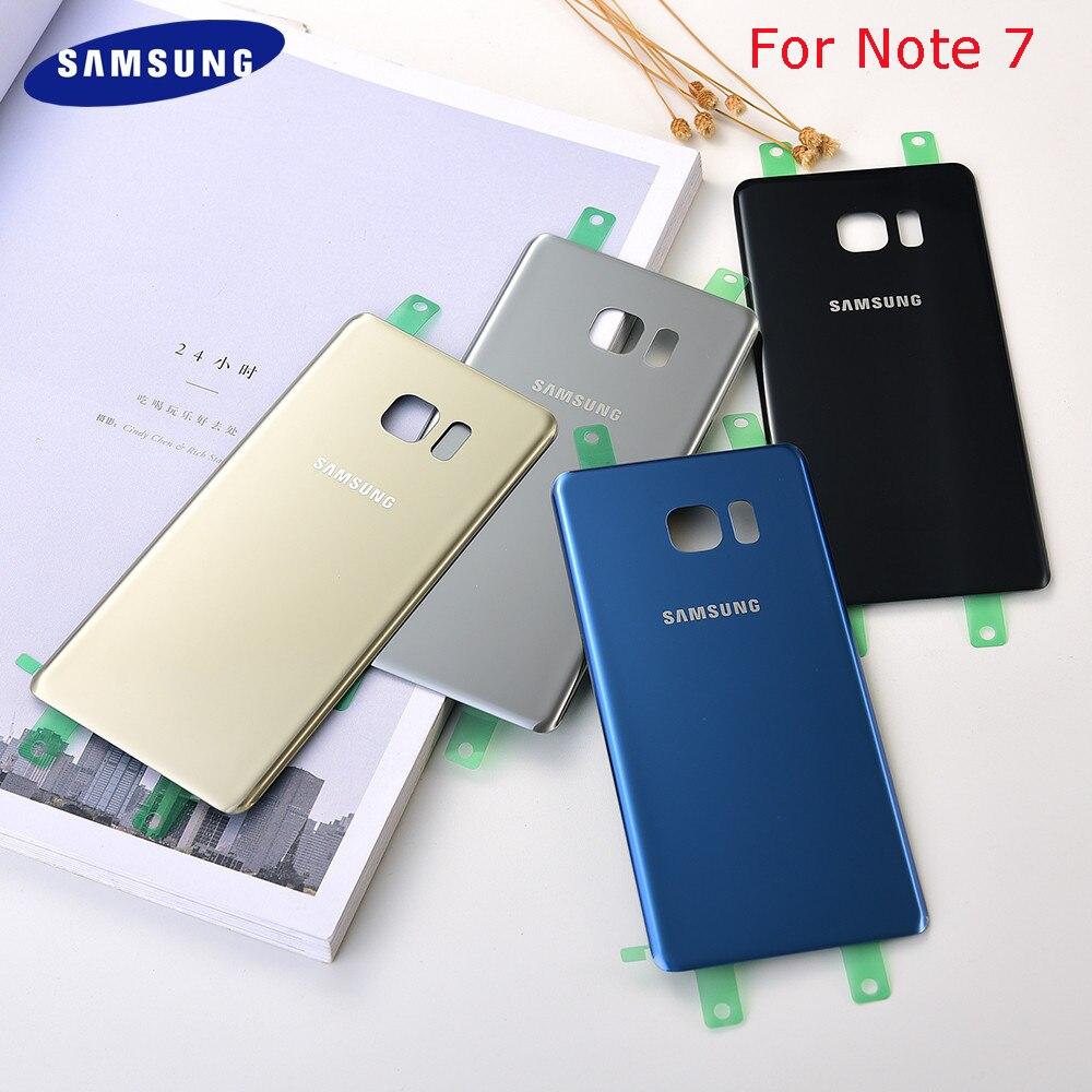 Original Samsung Galaxy Note7 Note FE 7 N930 N930F N935 carcasa trasera de la puerta trasera de cristal nota Fan Edition cubierta trasera de la batería