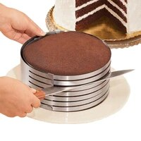1 pcs adjustable cake cutter round bread slicer cake cutter 6 layers slicer mousse ring kitchen mould baking tool accessories