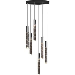 Stair chandelier Nordic modern living room lamp household lighting long line bar Island Hotel Villa Crystal Chandelier