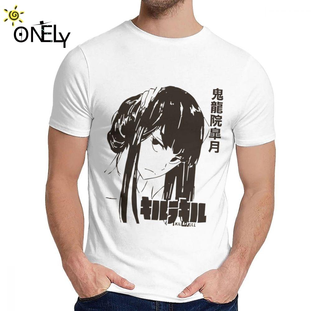 Para hombre T camisa Satsuki Kiryuin matar a La a gran Harajuku o-Cuello Vintage de La Camiseta