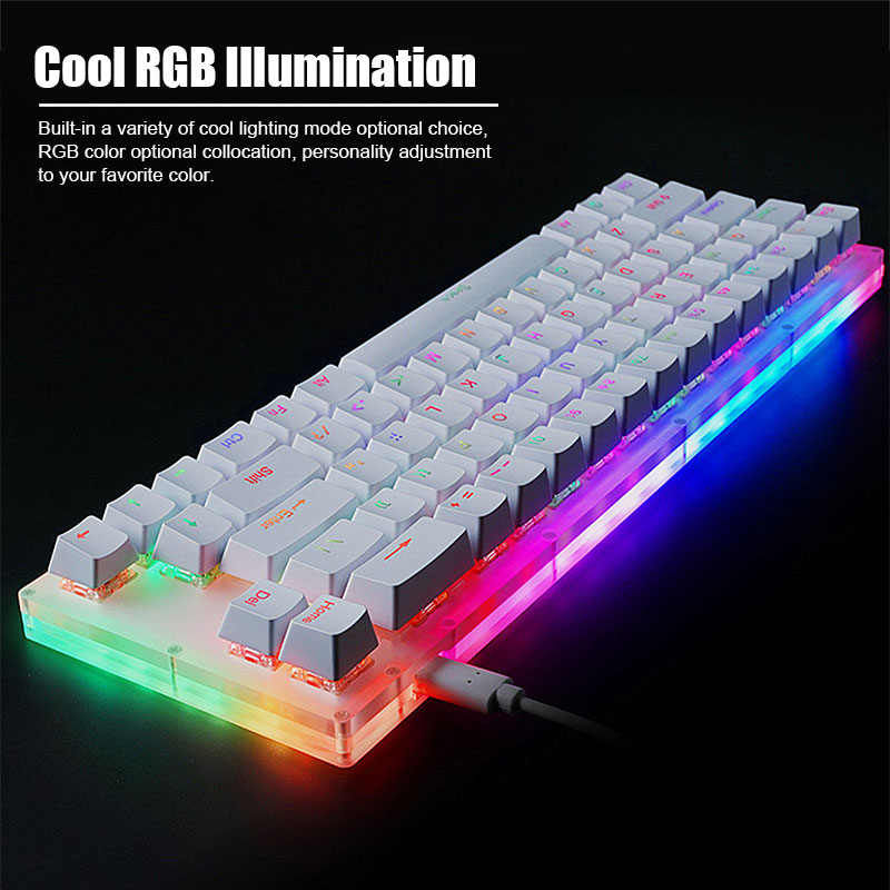Womier Gamakay K66 87 61 Keys Hot Swappable Mechanical Gaming Keyboard Type C Wired RGB Backlit Gateron Switch Crystalline Base