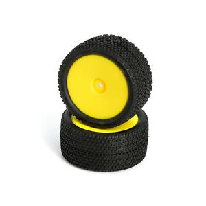 LC Racing L6251 All Terrain Buggy Pre-Mounted Rear tires (Yellow 2)
