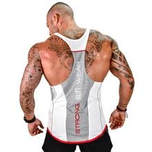 Meihuida Men Casual Sleeveless Loose Gym Tank Top Bodybuilding Stringer Tank Top Y-back Racerback Sports Workout Clothes