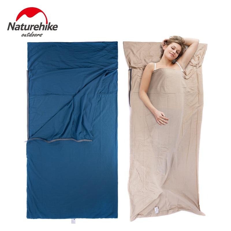 Bolsa de dormir NatureHike con forro, sábana de algodón, ultraligera, portátil, viaje de negocios, NH15S012-D de hotel/E
