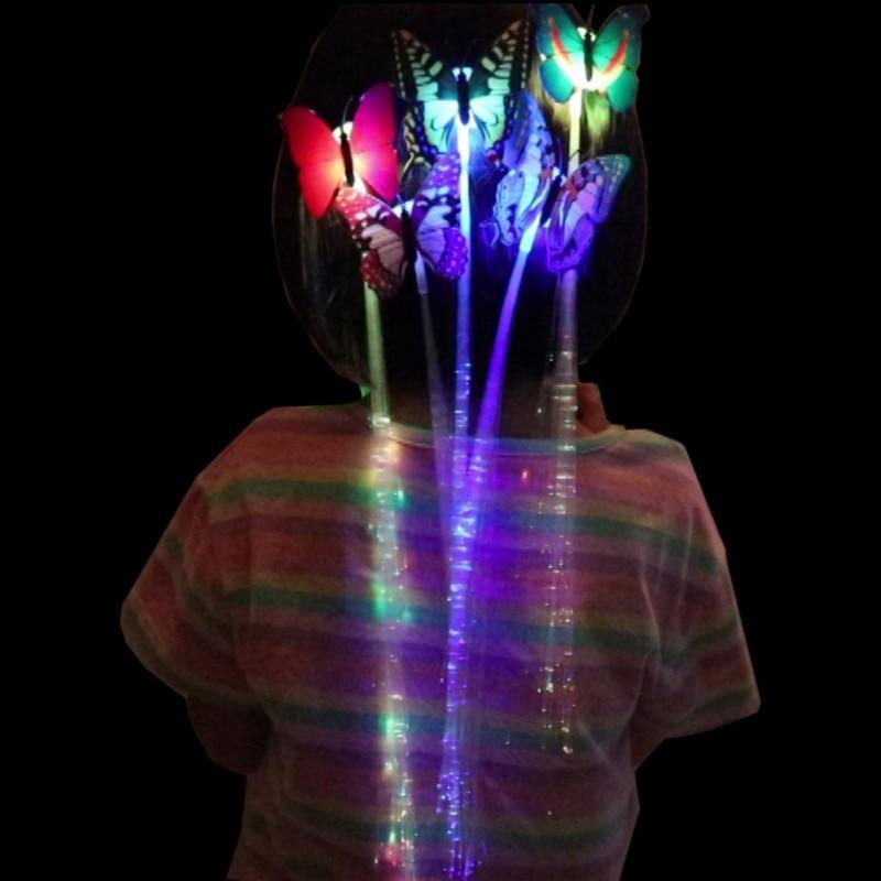 10 stücke LED Perücken Glowing Flash Ligth Haar Braid Clip Haarnadel Weihnachten Geburtstag Spielzeug Kinder Kid Kind Geschenk Spaß Fliegen katapult Stoßen