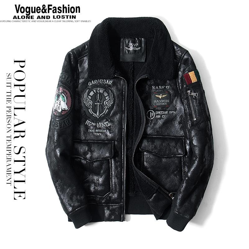 Men Winter Coat Thick Warm Casual Fashion Men Leather Jacket
