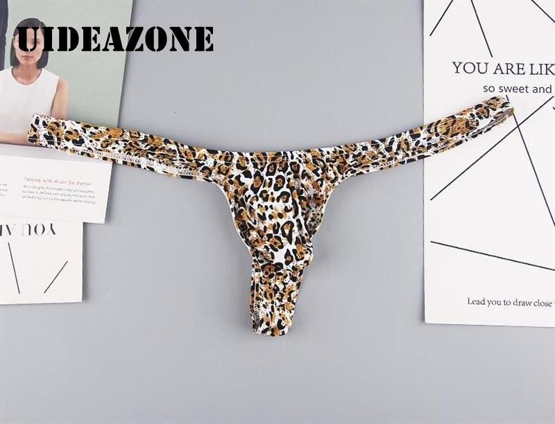 Tangas Sexy con estampado de leopardo para hombre, estuche para debajo de la ropa, bragas, Bikini para hombre, suspensorio, suspensorio de talla grande
