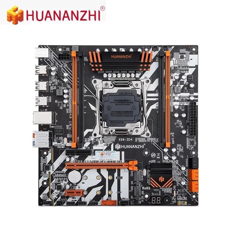 HUANANZHI X99-ZD4 اللوحة يدعم إنتل X99 LGA 2011-3 جميع سلسلة DDR4 RECC M.2 PCI-E NVME NGFF M-ATX لوحة أم للخادم