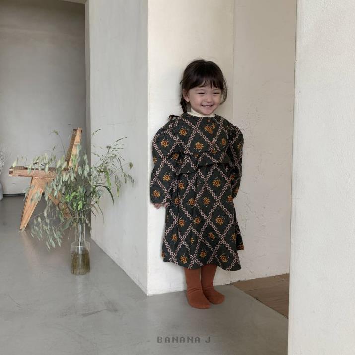 Ropa coreana para niños, Vestido de princesa de manga abombada con cuello...