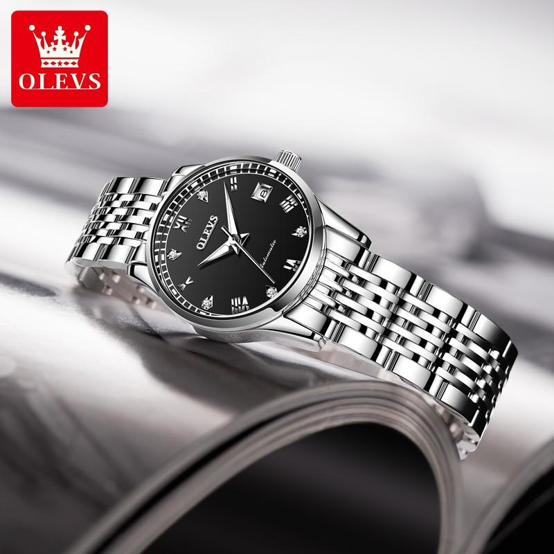 Automatic mechanical watch fashion diamond Roman scale ladies watch women enlarge