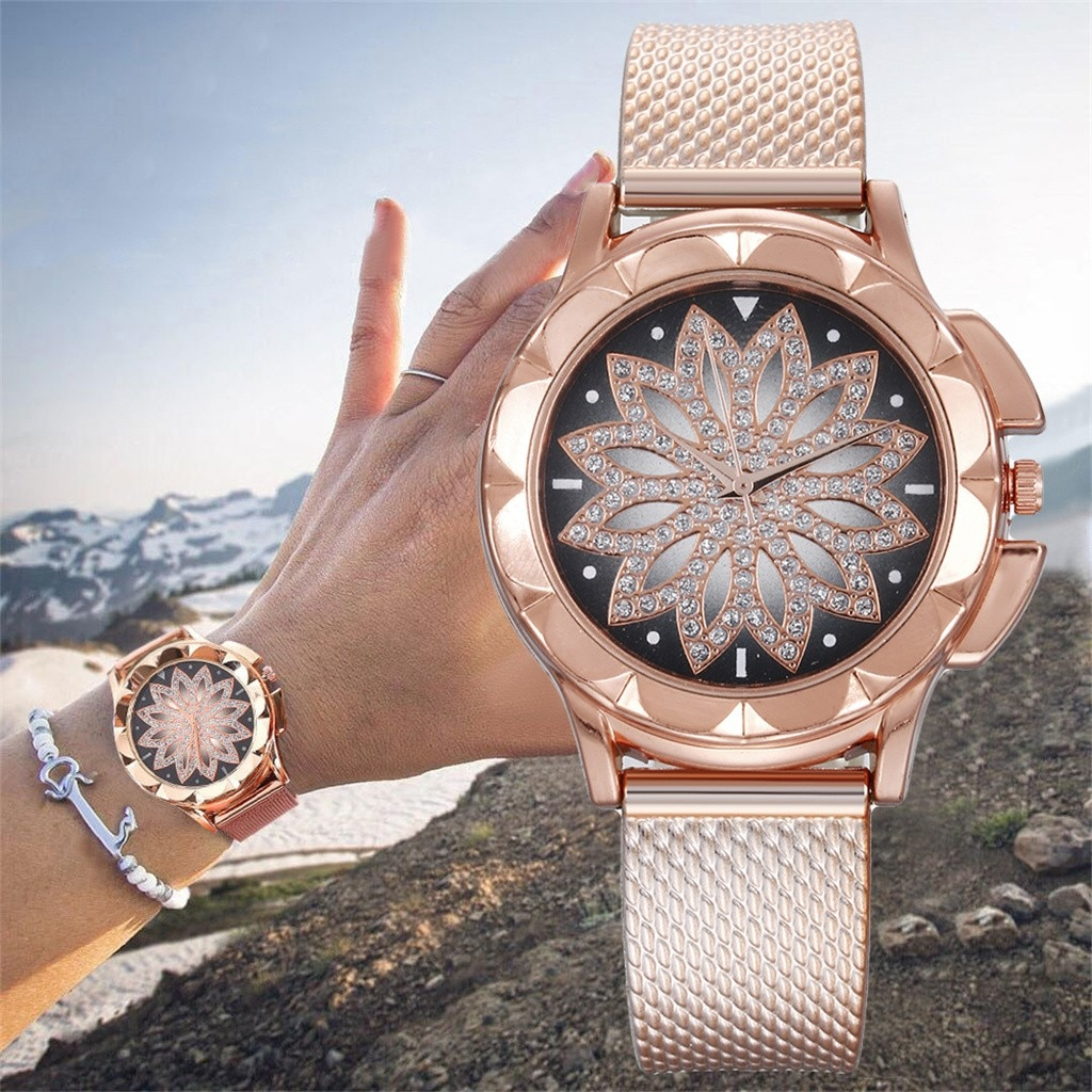 Moda otoky relógio feminino presentes relógios de luxo diamante feminino relógios pulso casual mulher magnética 2020 relógio minimalista relogio