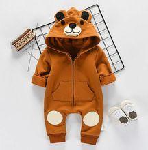 2020 trajes de Bebé Ropa Infantil niña encantadora 3D mameluco con orejas invierno cálido de manga larga de algodón mono conjuntos de 0-24M