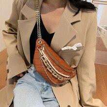 Lingge-sac brodé en cuir Pu pour femmes, nouvelle collection, petit sac à main de styliste avec chaîne en perles, sac bandoulière de taille